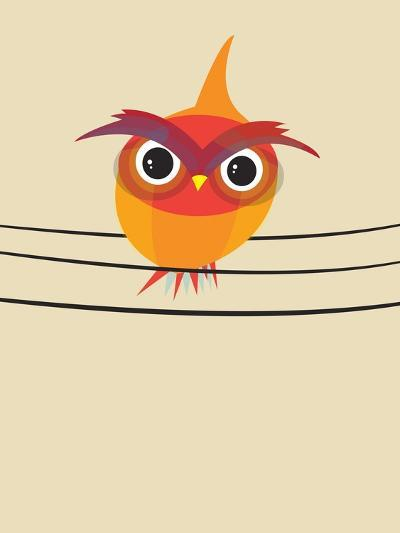 Owl on a Wire-Volkan Dalyan-Art Print