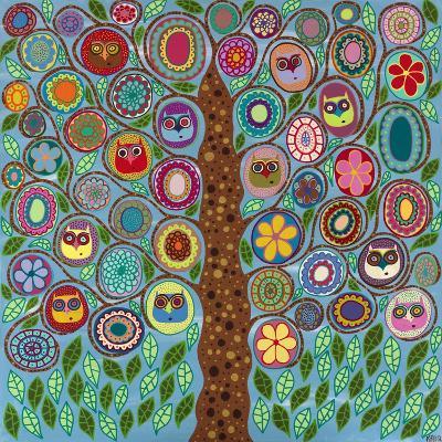Owl Party-Kerri Ambrosino-Giclee Print