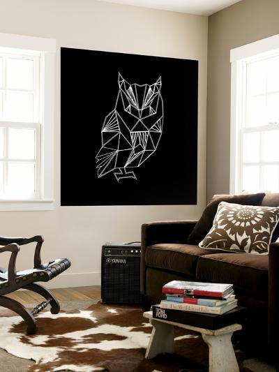 Owl Polygon-Lisa Kroll-Wall Mural