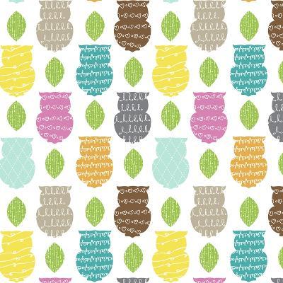 Owl Scribble-Joanne Paynter Design-Giclee Print