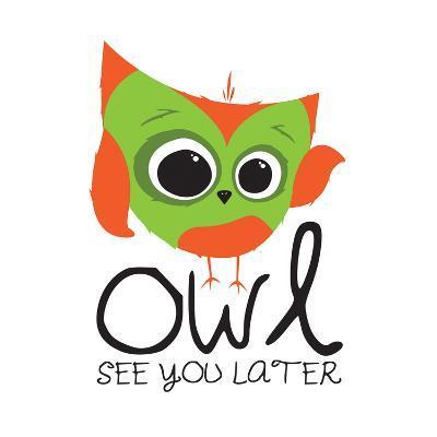Owl See-Jace Grey-Art Print