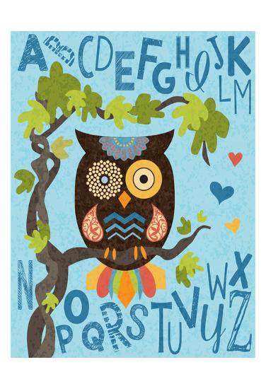 Owl Set Numlet 1-Melody Hogan-Art Print