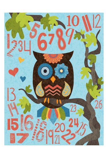 Owl Set Numlet 2-Melody Hogan-Art Print