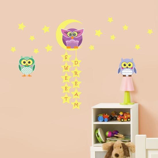 Owl Tree Star--Wall Decal