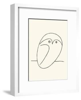 Owl-Pablo Picasso-Framed Serigraph