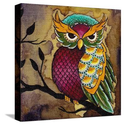 Owl-Brittany Morgan-Stretched Canvas Print