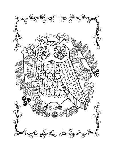 Owl-Anne Vasko-Giclee Print