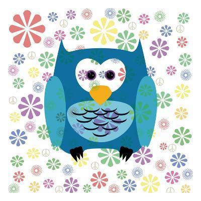 Owls and Flowers 2-Kimberly Allen-Art Print