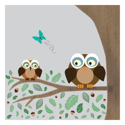 Owls-Lauren Gibbons-Art Print