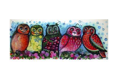 Owls-Oxana Zaika-Giclee Print