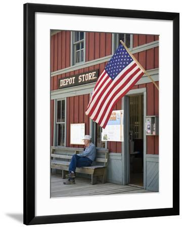 Owned by the State of Montana, the Museum Is a Collection of Buildings, Nevada City, Montana, Usa-Luc Novovitch-Framed Photographic Print