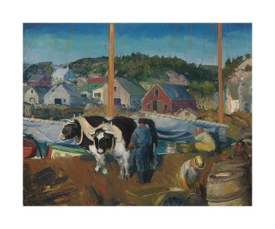 Ox Team, Wharf at Matinicus-George Wesley Bellows-Premium Giclee Print