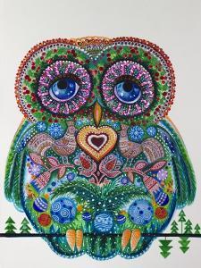 Christmas Magic Owl by Oxana Zaika