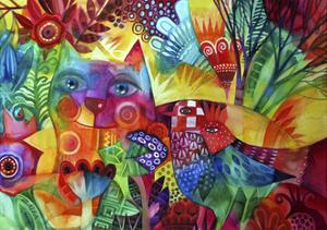 Red Cat by Oxana Zaika