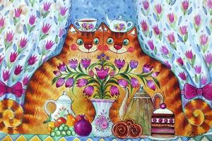 Tea Cats by Oxana Zaika