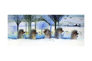 Winter Hedgehogs by Oxana Zaika