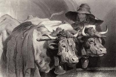 Oxen at the Tank, Geneva, Switzerland-Edwin Henry Landseer-Giclee Print