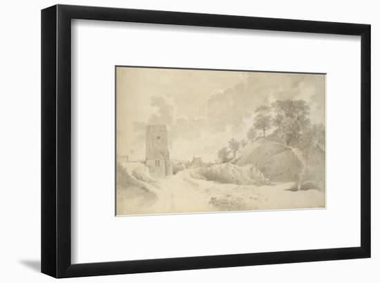 Oxford Castle and the Castle Mound, 27 May 1784-John Baptist Malchair-Framed Giclee Print