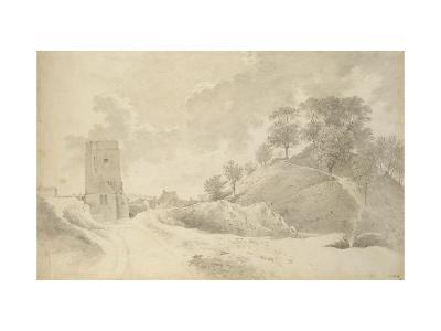 Oxford Castle and the Castle Mound, 27 May 1784-John Baptist Malchair-Giclee Print