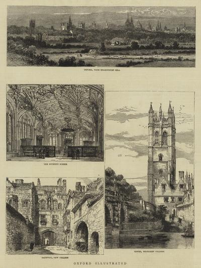 Oxford Illustrated-Henry William Brewer-Giclee Print