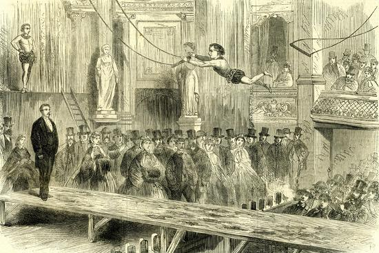 Oxford Music Hall U.K. 1862 the Juvenile Professors of the Trapeze Great Britain--Giclee Print