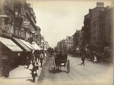 Oxford Street, London, C.1885--Photographic Print