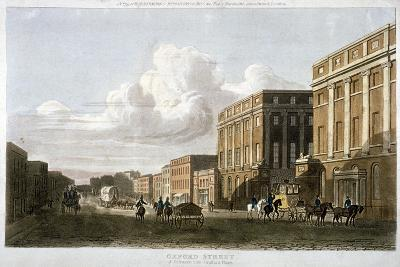 Oxford Street, Westminster, London, 1815--Giclee Print