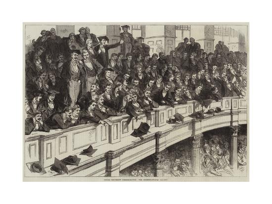 Oxford University Commemoration, the Undergraduates' Gallery--Giclee Print