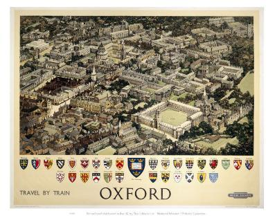 Oxford View from Air--Art Print