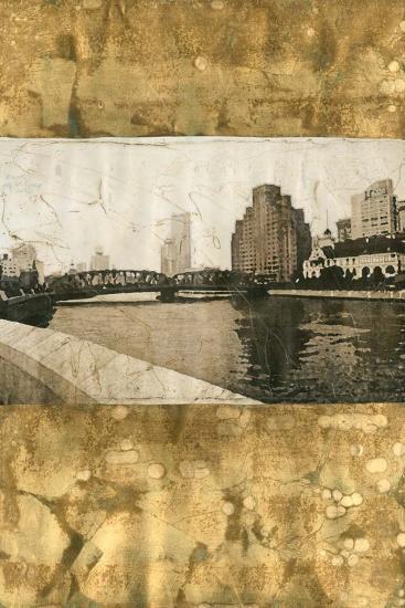 Oxidized Gold Cityscape I-Tang Ling-Art Print