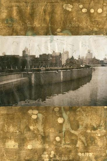Oxidized Gold Cityscape II-Tang Ling-Art Print
