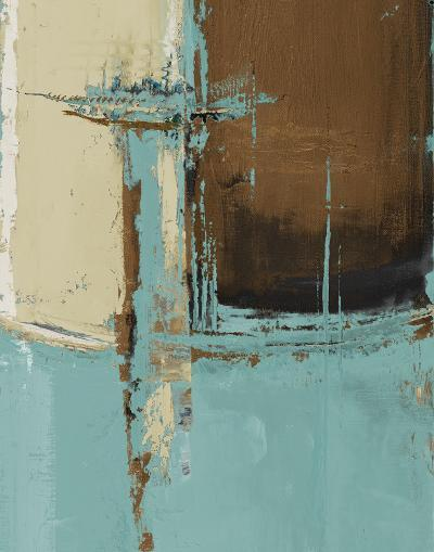 Oxido on Teal I-Patricia Pinto-Art Print