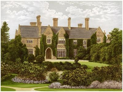 Oxley Manor, Staffordshire, Home of the Staveley-Hill Family, C1880-AF Lydon-Giclee Print