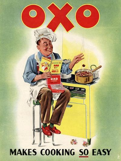 OXO, Chefs Cooking, UK, 1950--Giclee Print