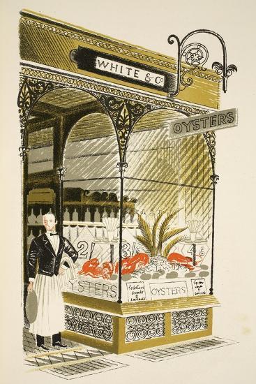 Oyster Bar-Eric Ravilious-Giclee Print