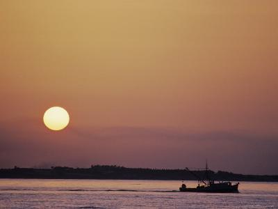 Oyster Boat on the Chesapeake at Sunset-Kenneth Garrett-Photographic Print