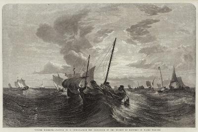 Oyster Dredging-Edward Duncan-Giclee Print