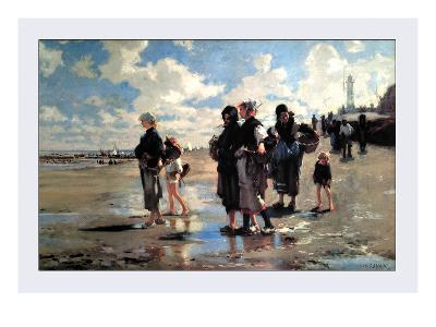 Oyster Gatherers of Cancale-John Singer Sargent-Art Print