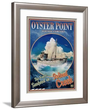 Oyster Point Seafood Co.-Old Red Truck-Framed Giclee Print