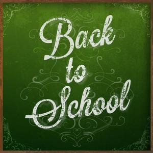 Back to School, Chalk Blackboard by Ozerina Anna