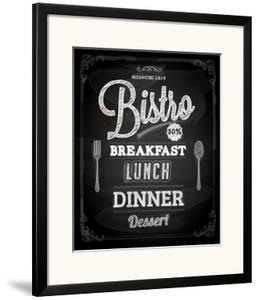 Bistro Chalkboard Poster For Vintage Design by Ozerina Anna