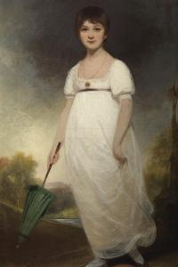 Portrait of Jane Austen (1775-1817) the 'Rice Portrait', C.1792-93 by Ozias Humphry