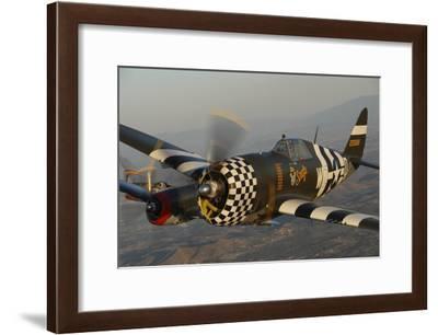 P-47 Thunderbolt Flying over Chino, California-Stocktrek Images-Framed Photographic Print