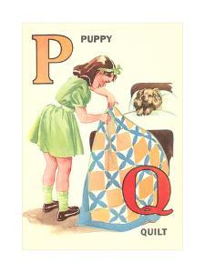 P for Puppy, Q for Quilt