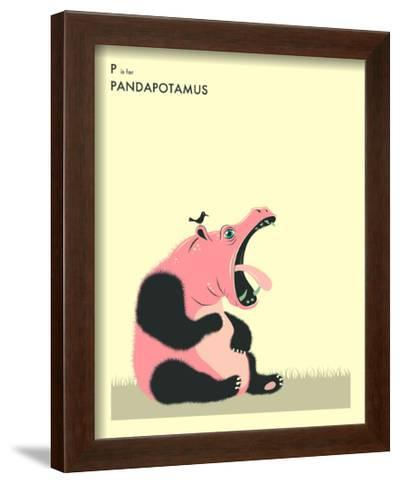 P is For Pandapotomus-Jazzberry Blue-Framed Art Print