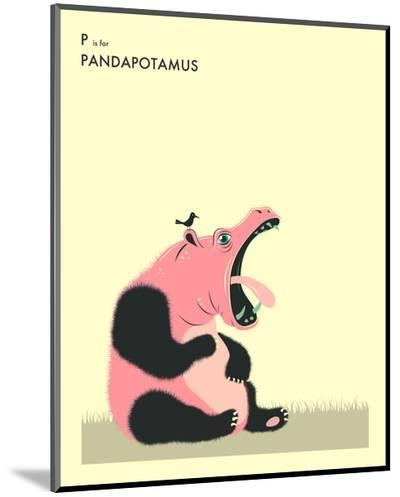 P is For Pandapotomus-Jazzberry Blue-Mounted Print