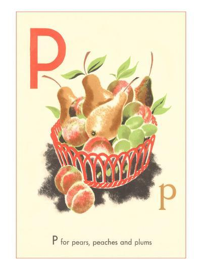 P is for Pears--Art Print