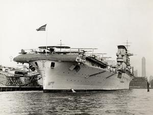 Biplanes on the Deck of the Uss Lexington by P.L. Sperr