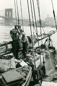 Cleaning Out the Old Ice at Fulton Fish Market by P.L. Sperr