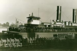 The President Roosevelt Arriving at South Ferry in 1932 by P.L. Sperr